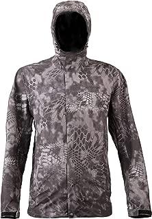 Kryptek Jupiter Camo Rain Jacket - 100% Waterproof, Seam-Taped, in 3D Layered Camouflauge (Rain Gear Collection)