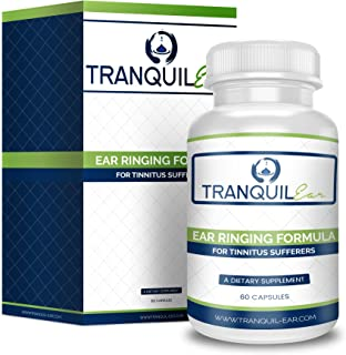 Tranquil Ear - Potent Tinnitus Relief Supplement (60 Capsules) - Natural Tinnitus Treatment and Ear Ringing Formula - Help Stop Ringing Ears Once And For All