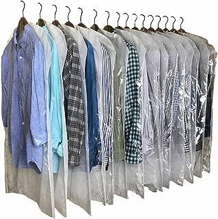 InikoLife 洋服 カバー 日本製 クリアタイプ 16枚組 (通常サイズ) 前面はハッキリ見えるクリア素材 背面は通気性抜群の不織布素材 2素材を組み合わせたアイデア洋服カバー 大切な衣類を安心保管