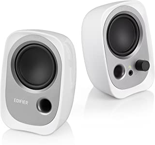 USB powered computer speakers with 3.5 mm AUX White (R12U BN)