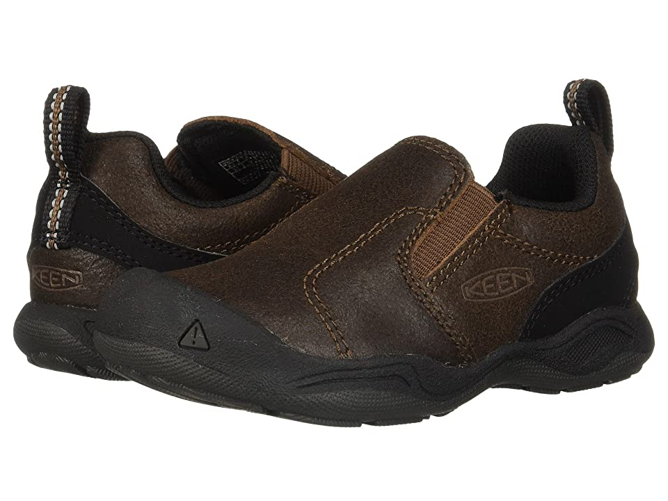 Keen Kids Jasper Slip-On (Toddler/Little Kid) (Dark Earth/Mulch) Boys Shoes