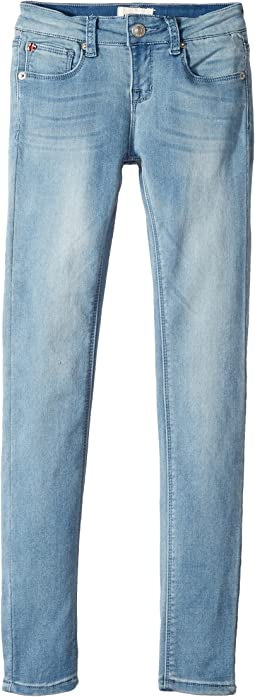 Hudson Kids - Collin Skinny Fit Five-Pocket French Terry in Light Wash (Big Kids)