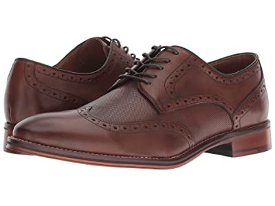Johnston & Murphy Conard Embossed Wingtip (Oak Italian Calfskin) Men