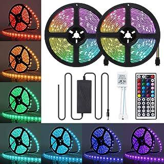 LED Strip Lights, 32.8FT / 10m 300 LED RGB LED Light Strip 5050 LED Tape Lights, Color Changing LED Strip Lights with Remo...
