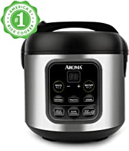 Aroma Housewares ARC-994SB 2O2O model, Rice, Grain, Saute Pan, Slow Cooker, Steamer, Stewpot, Oatmeal, Risotto, Soup Maker, 8-cup cooked/4-cup uncooked/2QT, Stainless Steel