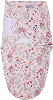 Haus & Kinder Dreamsack Easy Wrap Swaddle for New Born Baby, Cotton (Pink Floral)