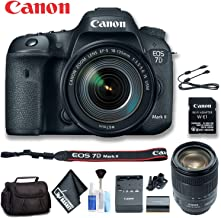 Canon 9128B135 EOS 7D Mark II DSLR Camera with 18-135mm f/3.5-5.6 is USM Lens & W-E1 Wi-Fi Adapter (International Model) Standard Bundle