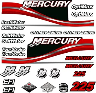 AMR Racing Outboard Engine Motor Sticker Decal Graphics kit for Mercury 225 - Red