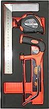 Fischer Darex 810908módulo de almacenamiento incluye una sierra para metales, un nivel/Escuadra y medida, 5m, Negro