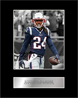 Stephon Gilmore Signed Mounted Photo Display New England Patriots #05 NFL Printed Autograph Gift Picture Print