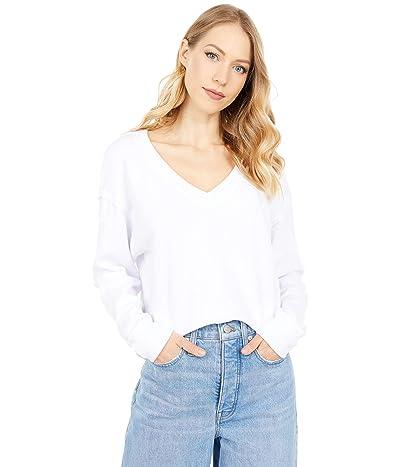 Michael Stars Camila V-Neck Crop Sweatshirt in Hermosa French Terry Women