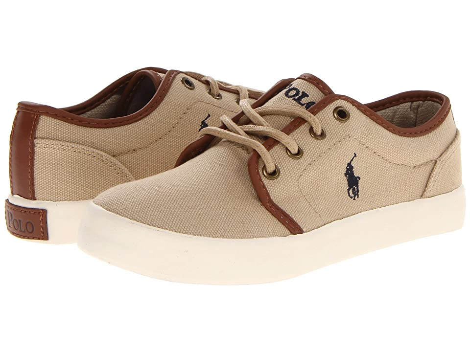 Polo Ralph Lauren Kids Ethan Low (Big Kid) (Khaki Ballstic Canvas) Boys Shoes