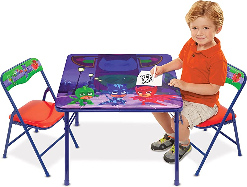 Disney PJ Masks Superhero Team Activity Table Set With 2 Chairs Play Set With Two Chairs