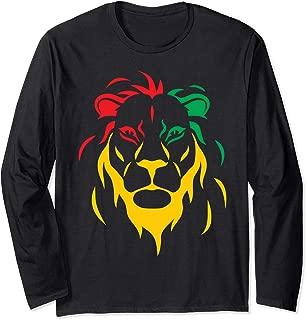 Rastafari Reggae Lion Long Sleeve T-Shirt