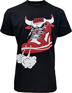 Chicago Red Bull Shoes Graphic Design Unisex Tee