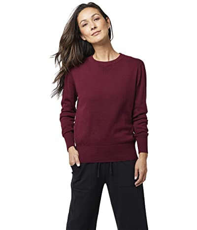 PACT Organic Cotton Sweatshirt-Style Sweater (Cabernet) Women