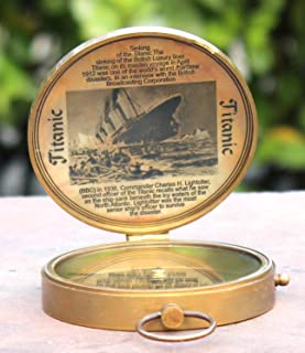 689622c927ed Collectibles Buy Antique Lid Titanic Compass Brass Finish Vintage Nautical  Sailor Article - Maritime Magnetic Gift