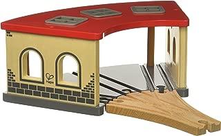 Hape Wooden Railway Big Engine Shed Train Set