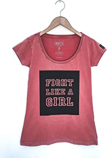 Camiseta Baby Look Fight Like A Girl
