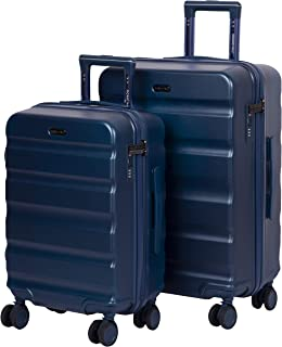 ROMEING Venice Polycarbonate Hard-Sided Luggage Set of 2 Trolley Bags (Blue) (55 & 65 cm)
