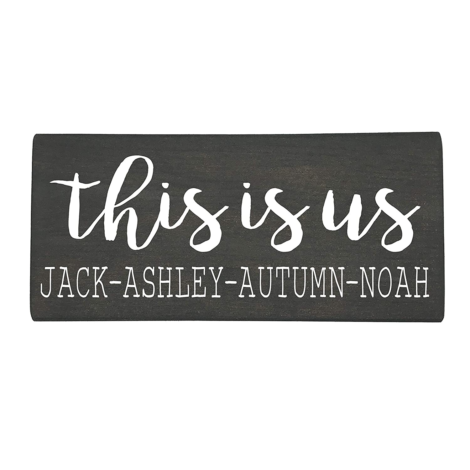 This is Us 2021 autumn and winter new Family Name Rustic Personalized Custom Wood Farmhouse Max 58% OFF