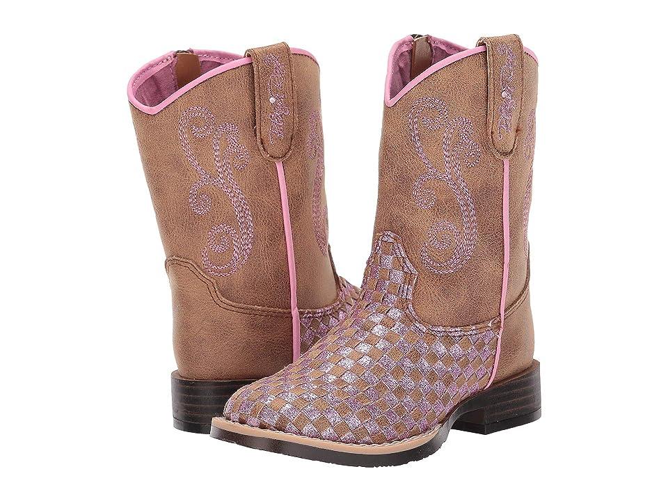 M&F Western Kids Kennedy (Toddler) (Brown/Pink) Cowboy Boots