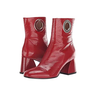 Summit by White Mountain Sherry Boot (Red Crinkle Patent Leather) Women