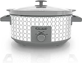 Black & Decker SC1007D Slow Cooker, 7 Quart, Geometric Cream