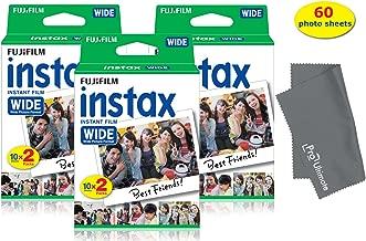 Fujifilm Instax Wide Instant Film for Fuji Instax Wide 210 200 100 300 Instant Photo Camera+ Fiber Micro PRO ULTIMATE Cloth (60 Photo Sheets)