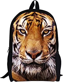 Tiger Lightweight Anime Backpack For Kids Cool Cute Animal Printed Schoolbags