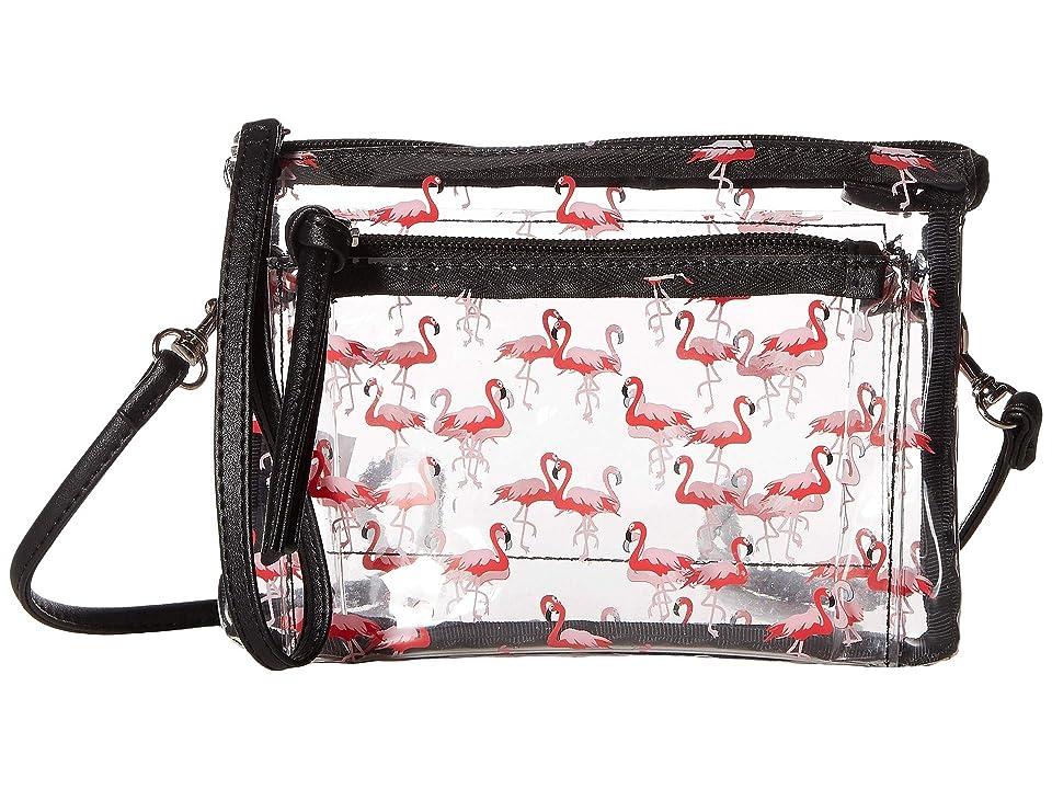 T-Shirt & Jeans All Over Flamingo Wristlet/Crossbody (Flamingo) Handbags