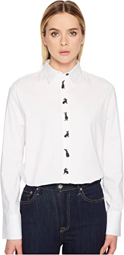 Paul Smith Woven Bunny Print Shirt