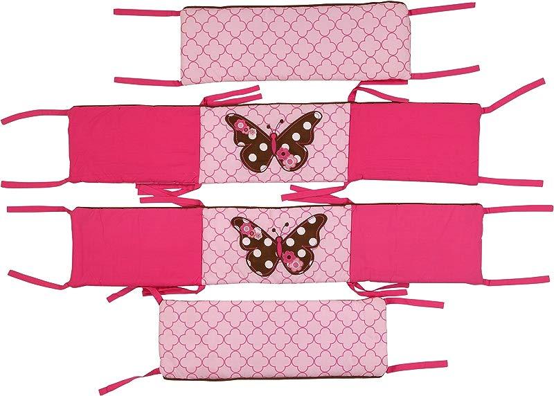 Butterflies Pink Chocolate Bumper Pad