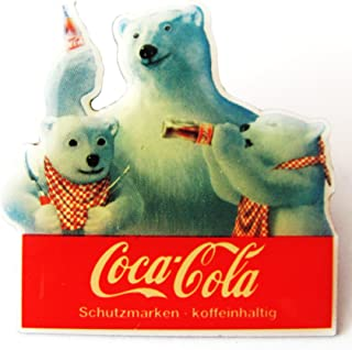 Coca Cola   3 Bären Trinken Cola   Pin 33 x 33 mm