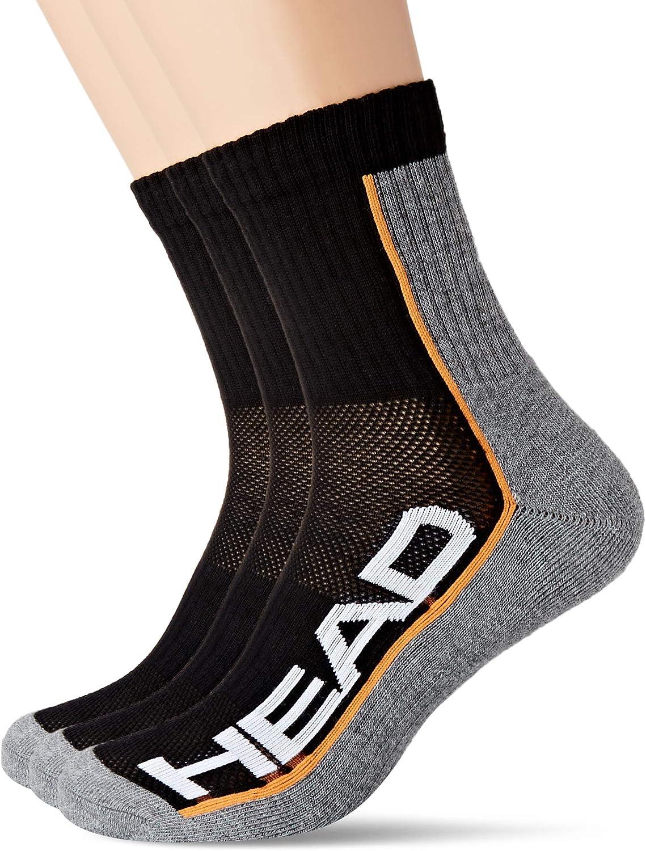 Head Performance Short Crew Socks Multipack Calcetines (Pack de 6) Unisex Adulto
