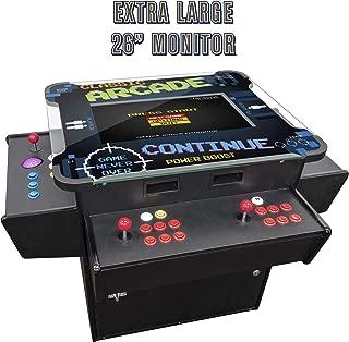 Creative Arcades Full-Size Commercial Grade Cocktail Arcade Machine | Trackball | Three-Sided | 1162 Classic Games | 4 Sanwa Joysticks | 2 Stools | 3-Year Warranty | 26