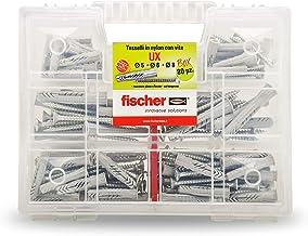 Fischer Kit UX, 544257 pluggen met schroef voor bevestiging aan de muur, gaten, gipsplaat, 80 stuks