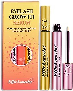 Natural Eyelash Growth Serum Set of 2- Revolutionary Formula, Gold Tube for Bushy+ Pink Tube for Longer- Double Efficacy(6ML+6ML)
