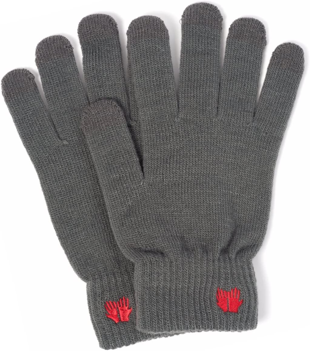 Warm Touch Screen Gloves - 6 Vibrant Colors - Works On All Smartphone Devices (Grey)