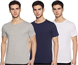 Amazon Brand - Symbol Men's Solid Regular Fit Half Sleeve Cotton T-Shirt (Combo Pack of 3)