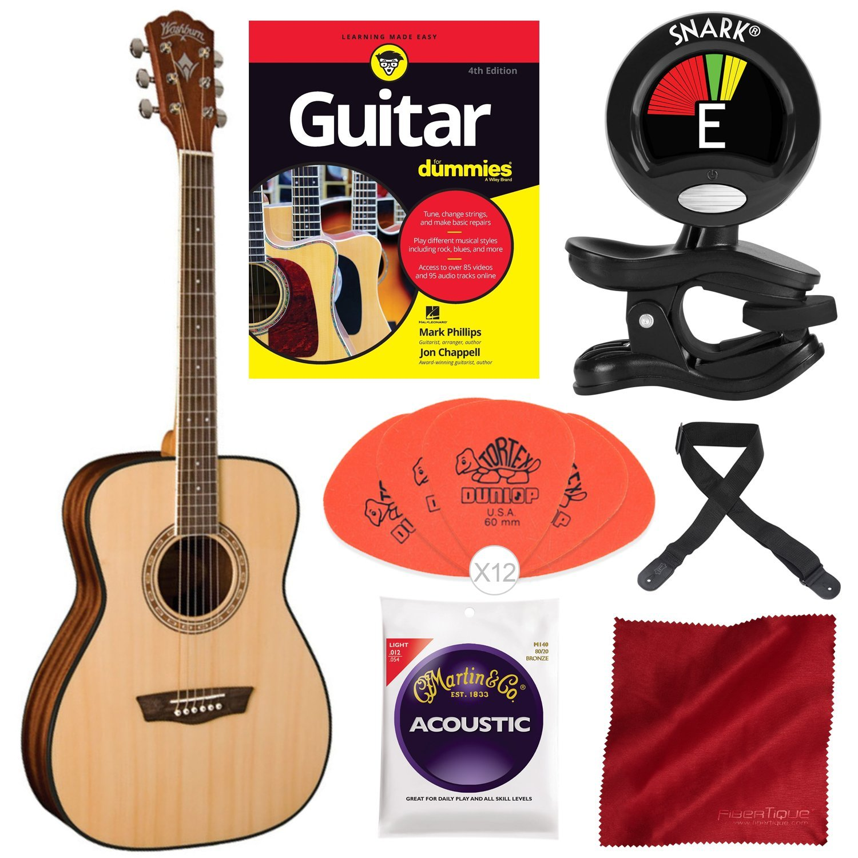 Washburn Apprentice 5 Series AF5K Folk - Guitarra acústica con ...