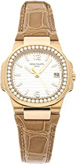 Patek Philippe Nautilus Quartz (Battery) Silver Dial Womens Watch 7010R-011 (Certified Pre-Owned)