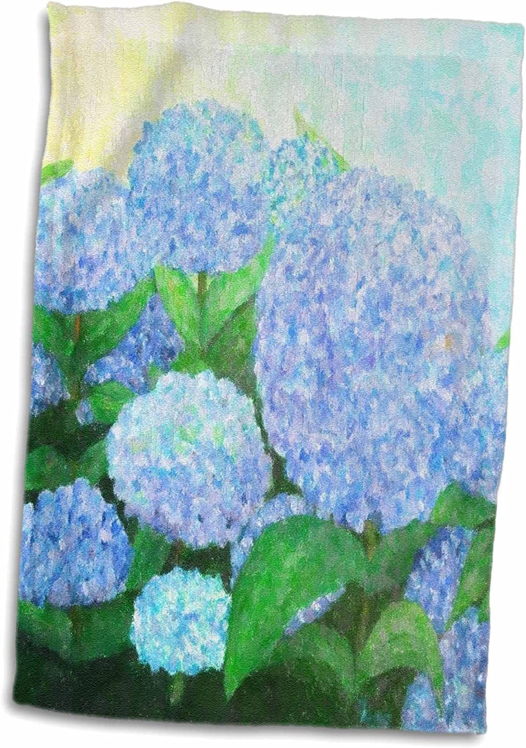 Amazon Com 3d Rose Painting Of Periwinkle Blue Hydrangeas Twl 59780 1 Towel 15 X 22 Home Kitchen