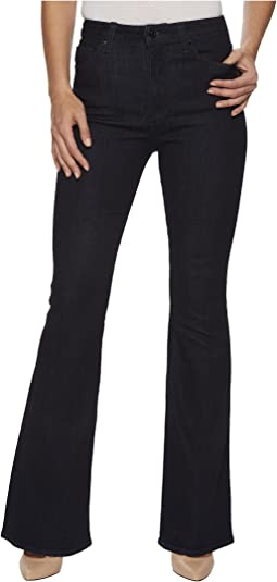 Hudson - Holly High-Rise Five-Pocket Flare Jeans in Infuse