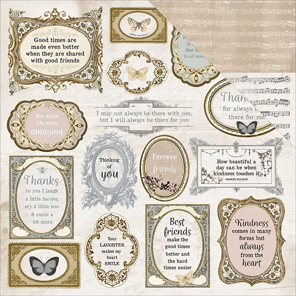Kaisercraft Symphony Romantique Double-Sided Cardstock 12