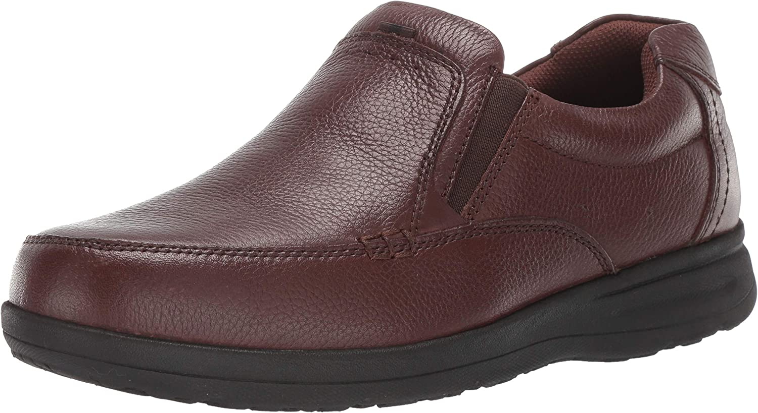 Nunn Bush Men's Cam Moc Toe Slip-On Brown Tumbled Leather 15 W US W (EE)