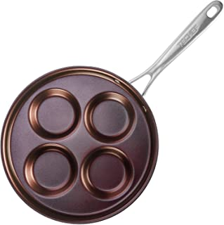 TECHEF - Eggcelente Pan, Swedish Pancake Pan, Plett Pan, Multi Egg Pan, Coated with New Teflon Select/Non-stick Coating (PFOA Free) (Purple)