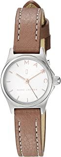 Marc Jacobs Women's 'Henry' Quartz Stainless Steel and Leather Casual Watch, Color:Grey (Model: MJ1625)