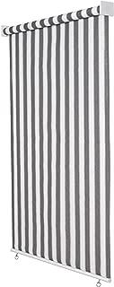Jarolift Estor Exterior/Persiana Exterior/Toldo Vertical, 220 x 240 cm(Ancho x Altura) Gris/Blanco
