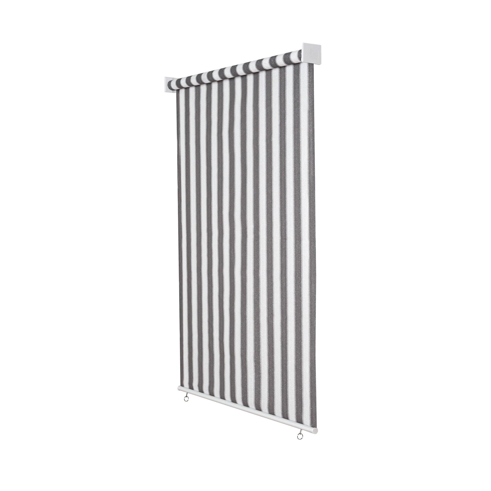 jarolift Estor Exterior/Persiana Exterior/Toldo Vertical, 180 x 140 cm(Ancho x Altura) Gris/Blanco: Amazon.es: Hogar